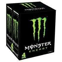 2 paquets de boissons énergisantes Monster Energy - 4x 50cl