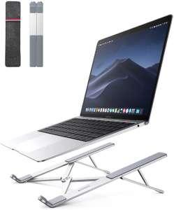 """[Nouveaux clients] Support pliable Ugreen pour PC portable avec Housse - 17.3"""" Max, 5 Niveaux d'inclinaison, Taille pliée 270x55mm, 235g"""