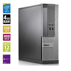 PC Fixe Dell Optiplex 3020 SFF - i5-4570 3.20GHz, 4Go RAM DDR3, 628Go HDD/SSD, Windows 10 Pro (Reconditionné - Grade B)