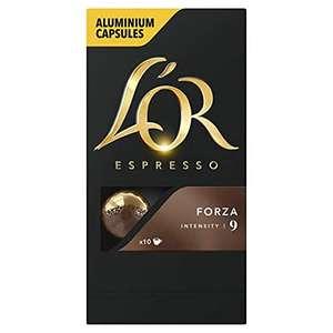 100 Capsules de café L'Or Espresso Forza Intensité 9 (Via Abonnement)