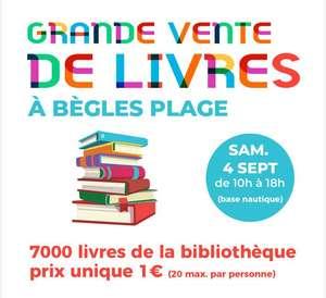 Vente de livres d'occasion de la bibliothèque municipale à 1€ (20 max. par personne) - Bègles (33)