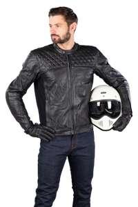 Blouson de moto Boomer - en cuir, marron ou noir (du M au XXL)