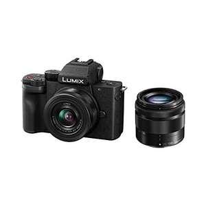 Kit appareil photo numérique hybride Panasonic Lumix DC-G110 (20.3 Mpix, Live MOS) + objectifs Lumix 12-32 & 35-100 mm