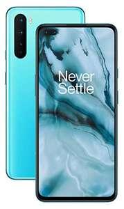 "Smartphone 6.44"" OnePlus Nord 5G - full HD+ 90 Hz, SnapDragon 765G, 8 Go de RAM, 128 Go (D'occasion - Très bon)"