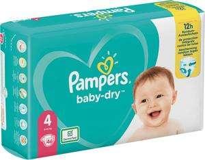 Lot de 2 packs au choix : Couches Baby Dry Géant Pampers (T. 3 à 7) et/ou de Culottes Pampers (T. 3 à 6)