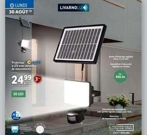 Projecteur solaire à LED avec détecteur de mouvement