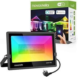 1 Projecteur extérieur LED RGBW Novostella - WiFi, 100W, 6000lm, IP66 étanche (vendeur tiers - via coupon)
