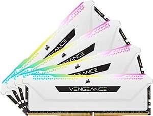 Kit mémoire RAM Corsair Vengeance RGB Pro SL - 32 Go (4 x 8 Go) DDR4, 3200 Mhz, CAS 16 (Blanc)