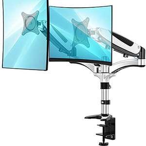 """Support / bras articulé pour 2 écrans de 13 à 27"""" Huanuo - VESA 75 / 100 (vendeur tiers)"""