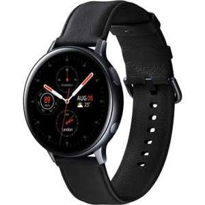 Montre connectée Samsung Galaxy Watch Active 2 - 44 mm, bracelet en cuir, noir
