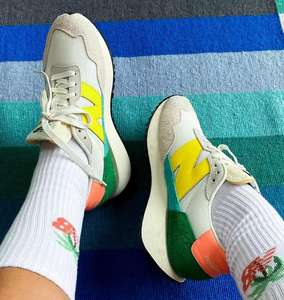 "Baskets New Balance 237 - Blanc cassé et jaune"""