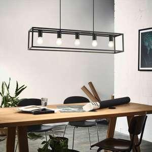 Suspension luminaire Inspire Eldrick - 5 ampoules, en métal, noir
