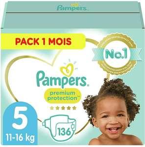 Paquet de 136 Couches Pampers Premium Protection