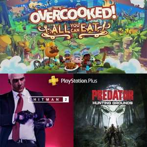 [PS+] Overcooked! All You Can Eat, Hitman 2, Predator Hunting Grounds offerts sur PS5/PS4 (Dématérialisés)