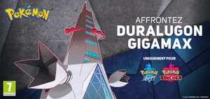 Code Raid Duralugon Gigamax offert pour Pokémon épée et bouclier