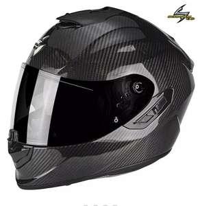 Casque Moto Scorpion exo-1400 Solid Carbon Noir