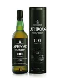 Sélection d'alcools en promotion - Ex : Bouteille de Scotch Whisky Laphroaig Lore 48% Single Malt - 70cl (whiskyparis.com)