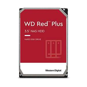 """Disque dur interne CMR 3.5"""" WD Red PLUS NAS (WD40EFZX) - 4 To, Cache 128 Mo, 5400 tpm"""