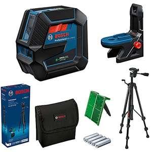 Niveau Laser Bosch Professional GCL 2-50 G - Portée 15 m, faisceau vert, support RM 10, trépied BT 150, 4x piles AA