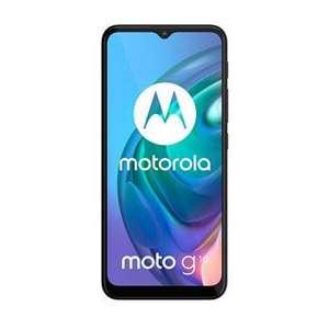 """Pack Smartphone 6.5"""" Motorola Moto G10 - 64Go, Double SIM, Noir + Coque de protection + Protection d'écran en verre trempé Transparent"""