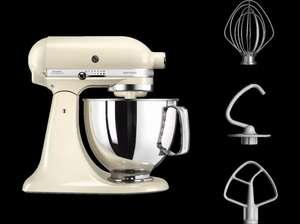 Robot pâtissier Kitchenaid Artisan 5KSM125EAC - 300W, Crème (Frontaliers Belgique)
