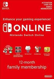 Abonnement de 12 Mois au Nintendo Switch Online Familial (Dématérialisé)