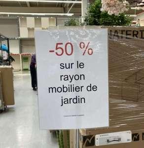 50% de réduction sur le rayon mobilier de jardin (Gennevilliers 92)