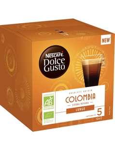 Pack de 6 boîtes de 12 Capsules Nescafé Dolce Gusto Lungo Colombia Bio (72 Capsules)