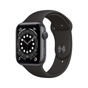 Montre connectée Apple Watch Series 6 (GPS) - 44 mm, Aluminium Gris sidéral, Bracelet Sport Noir