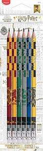 6 Crayons Graphite Maped Black'Peps Harry Potter HB Embout Gomme