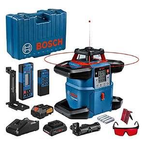 Coffret System Laser rotatif Bosch Professional GRL 600 CHV - 18V + Batterie 18V, 4Ah + chargeur, connecté, 600m