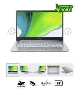 "PC Portable 14"" Acer Swift 3 SF314-59 - FHD, i5-1135G7, RAM 8Go, SSD 512Go, Windows 10"