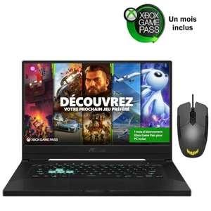 """PC Portable 15.6"""" Asus TUF Dash 1516PR-HN104T - FHD 144Hz, i7-11370H, 16 Go de RAM, SSD 512Go, RTX 3070, W10 + Souris filaire Asus TUF M5"""