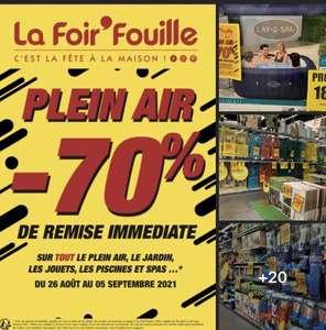 70% de réduction sur les rayons Jardin / Plein air / Jouets / Piscines & Spas - Puget Sur Argens (83)