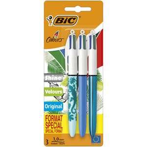 Lot de 3 stylos BIC 4 couleurs (Via 3.47€ sur la carte de fidélité)