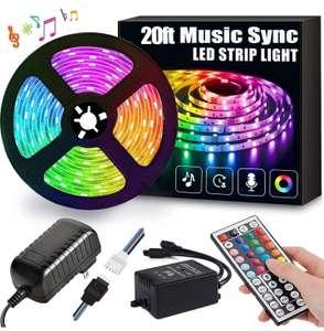 Ruban LED RGB - 6 m, avec télécommande (vendeur tiers)