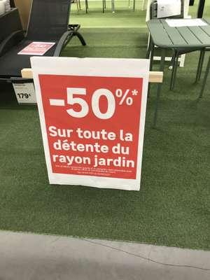 50% de réduction immédiate sur les articles Détente du rayon Jardin - BUCHELAY (78)