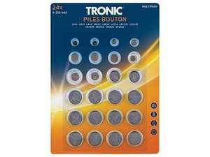 Lot de 24 piles bouton Tonic