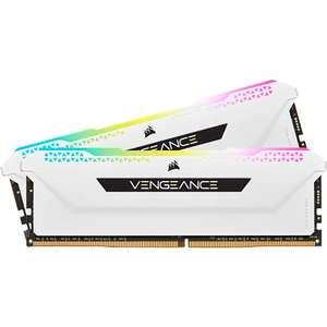 Kit mémoire RAM Corsair Vengeance RGB Pro SL - 32 Go (2 x 16 Go) DDR4, 3200 Mhz, C16, Blanc (CMH32GX4M2E3200C16W)