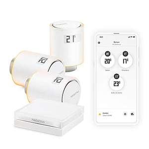 Kit de domotique avec 3 têtes thermostatiques connectées Netatmo Starter Pack NVP-FR