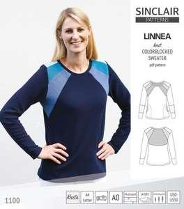 Patron de couture sweat-shirt Linnea Colorblocked gratuit (dématérialisé, en PDF) - SinclairPatterns.com