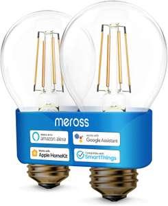 Lot de 2 ampoules connectées E27 Meross - compatibles assistants vocaux (vendeur tiers)