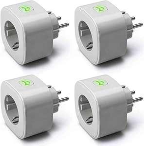 Lot de 4 prises connectées Meross - compatibles assistants vocaux et mesure de la consommation - Type F (vendeur tiers)