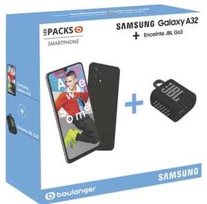 """Pack Smartphone 6.4"""" Samsung Galaxy A32 4G + Enceintes JBL Go3"""