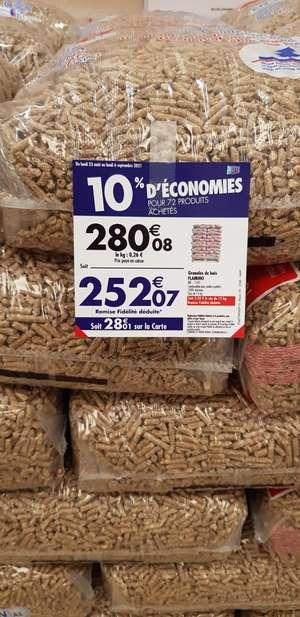Palette de sacs de granulés de bois Flamino (via 28.01€ sur la carte de fidélité) - Rozay-en-Brie (77)