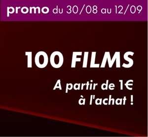 Sélection de 100 films en achat numérique à partir d'1€ (Dématérialisé - Canal VOD)