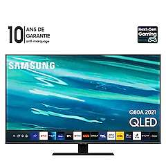 "TV QLED"" Samsung Serie 8 50Q80A (2021) - Full LED, 100hz, HDMI 2.1, Smart TV, 4K UHD"