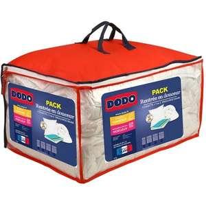 Pack Dodo Couette tempérée + oreiller moelleux 300 g/m² Rentrée en Douceur