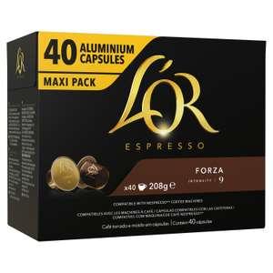 Paquet de 40 capsules L'Or Espresso Forza Intensité n° 9 - Toulouse Basso Cambo (31)