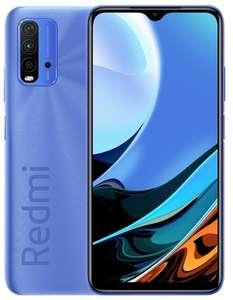 """Smartphone 6.53"""" Xiaomi Redmi 9T - full HD+, SnapDragon 662, 4 Go de RAM, 64 Go, bleu (via ODR de 30€)"""